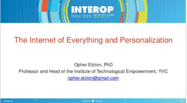 On Internet of Everything and Personalization