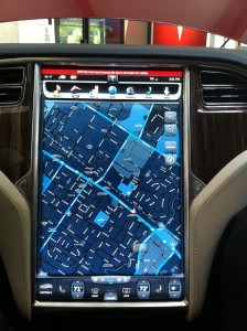The LCD inside a Tesla.