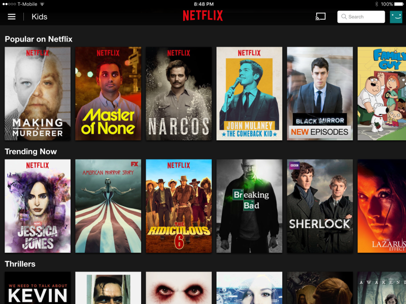 Netflix recommendations:  machine-learning algorithms at work