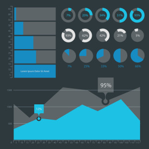 Abstract infographics templates collection