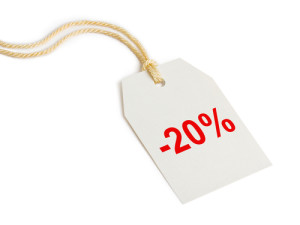 Label discount 20%