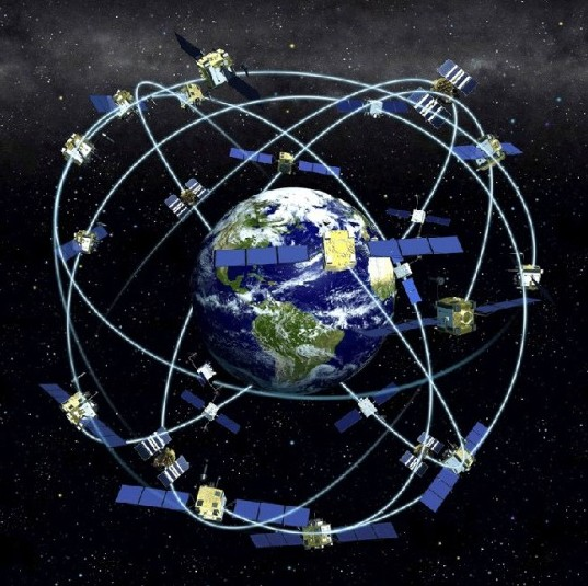 The GPS System is the successor to the TRANSIT system used by U.S. submarines to launch Polaris missiles. Source: Wiki Media.)
