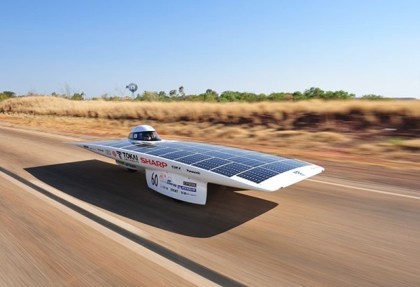 "Tokai University's Solar Car ""Tokai Challenger, the winner of the 2009 Global Green Challenge. Source: Wikimedia"