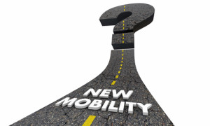 New Mobility Question Mark Road Future Transportation 3d Illustr